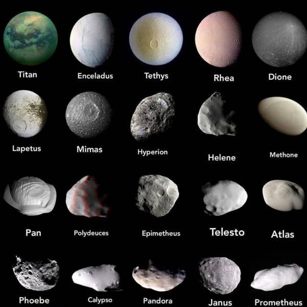 سیاره زحل,نام دیگر سیاره زحل,بزرگترین قمر سیاره زحل