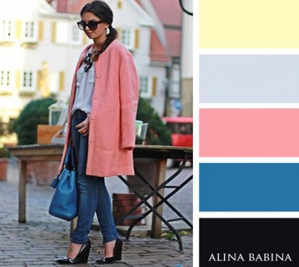 ترکیب رنگ جذاب برای لباس ها,ترکیب رنگ جذاب برای لباس ها در فصل پاییز,انتخاب رنگ لباس,قوانین ترکیب رنگها,آبی تیره و سرمهای در ترکیب با توسی