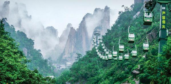 طبیعت چین,فیلم آوارتار,تله کابین کوهستان تیانزی