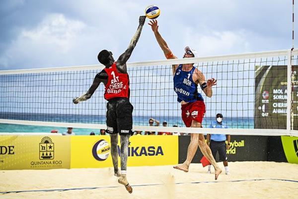 خطاهای والیبال ساحلی,مسابقات رسمی والیبال ساحلی,ابعاد زمین والیبال ساحلی