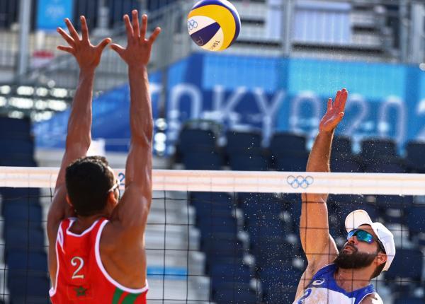 مسابقات رسمی والیبال ساحلی,ابعاد زمین والیبال ساحلی,عکس والیبال ساحلی