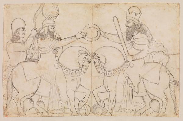 اردشیر بابکان در تاریخ روایی ایران,اردشیر بابکان,تاجگذاری اردشیر بابکان