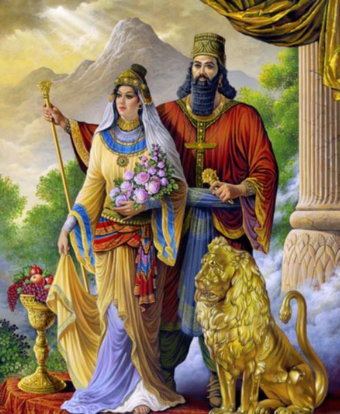 مذهب آتوسا,آتوسا,ازدواج آتوسا و داریوش بزرگ