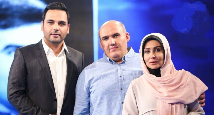 عکس احسان علیخانی و پرستو صالحی,پرستو صالحی در برنامه ماه عسل,پرستو صالحی و برادرش