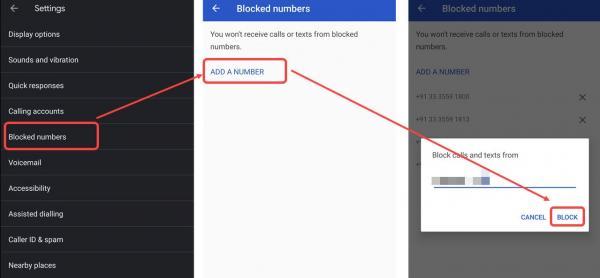 مسدود كردن شماره مزاحم ایرانسل,روش بلاک کردن شماره مزاحم همراه اول,مسدود كردن شماره مزاحم در گوشی ساده