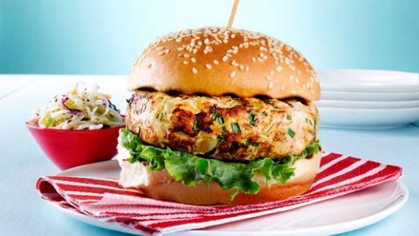 همبرگر,همبرگر خانگی,دستور تهیه همبرگر