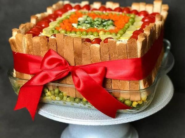طرز تهیه کیک مرغ,روش پخت کیک مرغ,کیک مرغ با نان تست