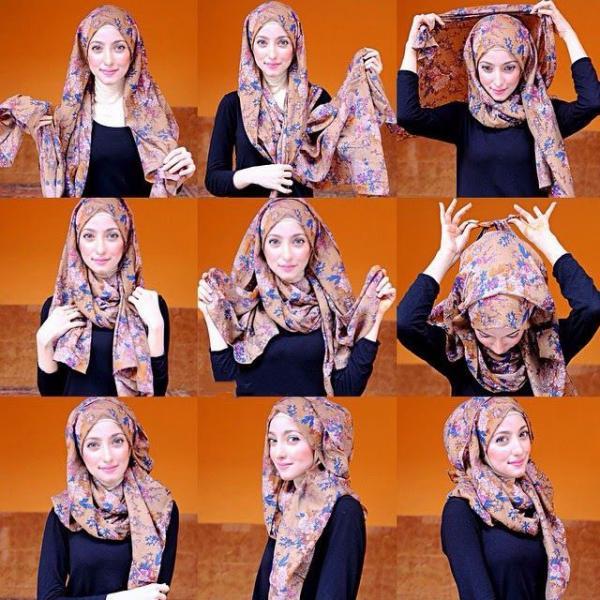 آموزش بستن شال و روسری تصویری,انواع بستن شال,آموزش بستن شال,بستن شال