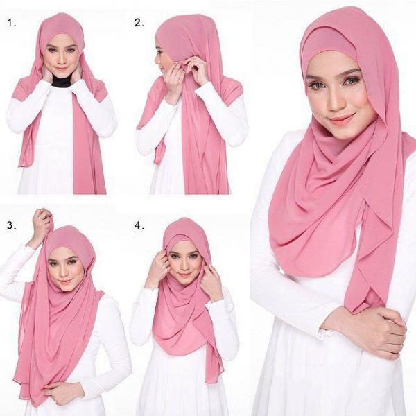 مدل حای باحجاب برای بستن شال,روش بستن شال,نحوه بستن بستن شال