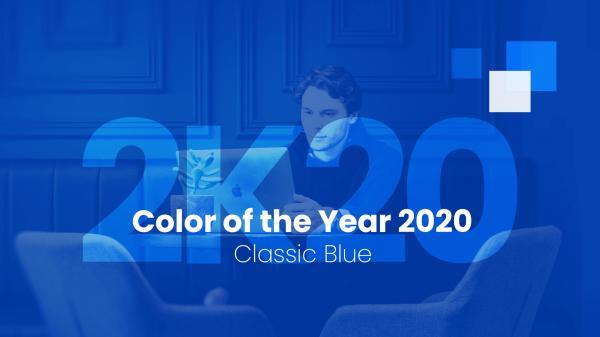 رنگ سال 2020,رنگ 2020,آبی کلاسیک