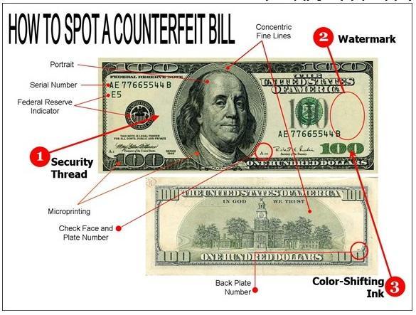 روش تشخیص دلار تقلبی,جنس دلار تقلبی,سکه های یک دلار تقلبی