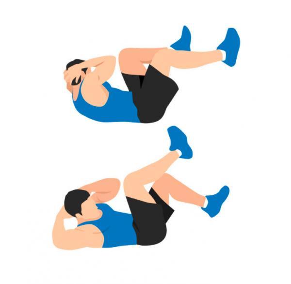 وضعیت بدن در حرکت کرانچ,کرانچ,تفاوت کرانچ با درازنشست