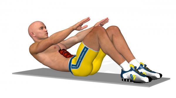 حرکت ورزشی کرانچ معکوس,انواع کرانچ,کرانچ