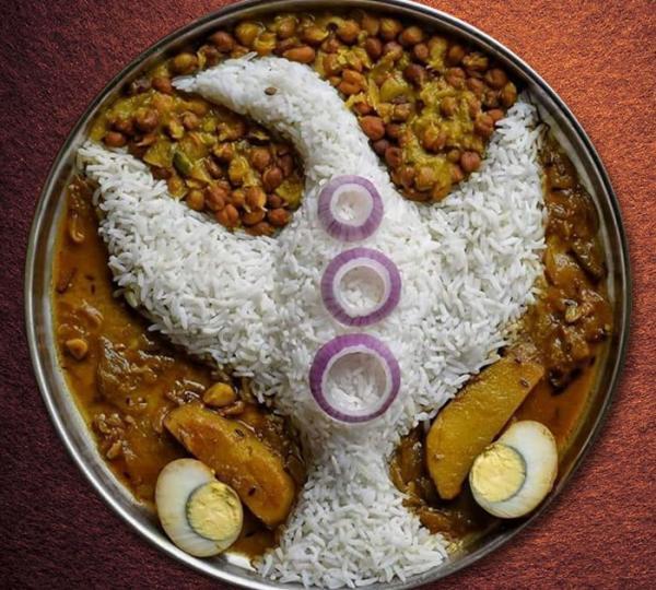 عکس تزیین برنج,انواع تزیین برنج,تزیین برنج