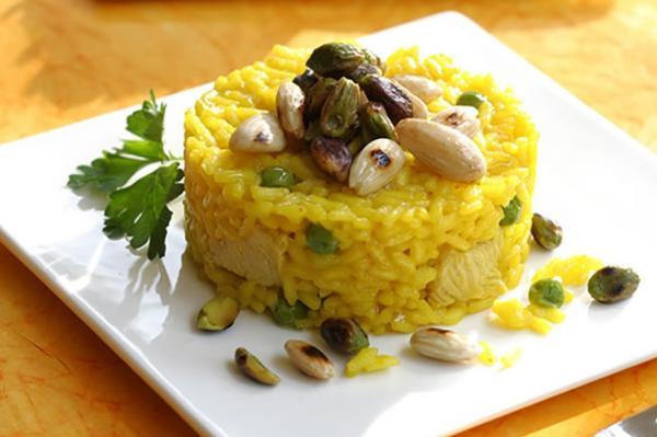انواع تزیین برنج,تزیین برنج مجالس,تزیین برنج