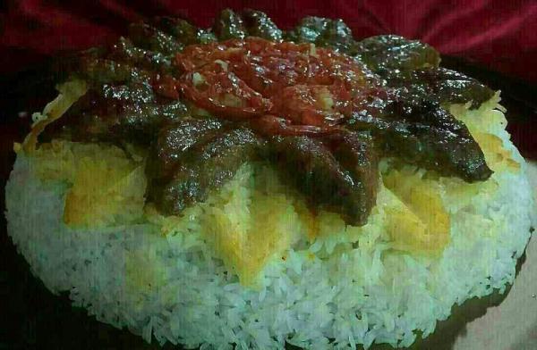 عکس تزیین برنج با زعفران,تزیین برنج,تزیین برنج مجالس