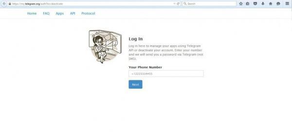 نحوه حذف اکانت تلگرام,دیلیت اکانت تلگرام,حذف اکانت تلگرام