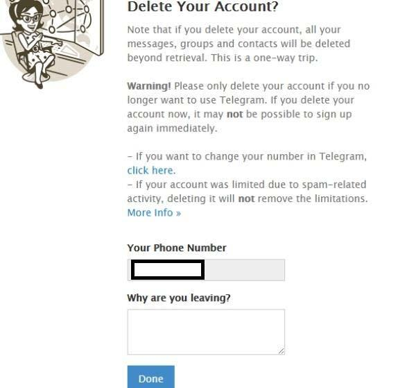 با حذف اکانت تلگرام چه میشود,حذف اکانت تلگرام,طرز حذف اکانت تلگرام