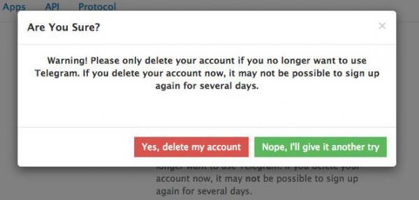 حذف اکانت تلگرام,طریقه حذف اکانت تلگرام,با حذف اکانت تلگرام چه میشود