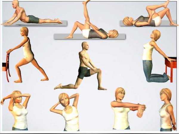 حرکات کششی,حرکات کششی ایستا,آموزش حرکات کششی