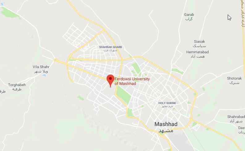 دانشگاه فردوسی مشهد,دانشگاه فردوسی,نقشه دانشگاه فردوسی