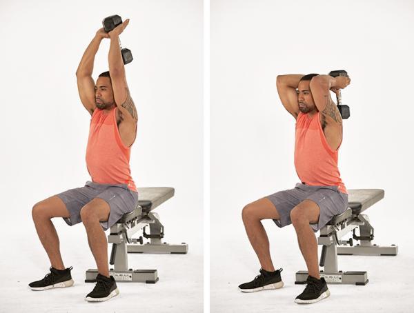 بهترین حرکت برایرفع افتادگی بازو,رفع افتادگی بازو,حرکت پشت بازو دیپ برای رفع افتادگی بازو