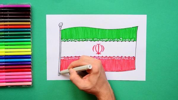 نیمه افراشتن پرچم ایران,پرچم ایران,آرم پرچم ایران