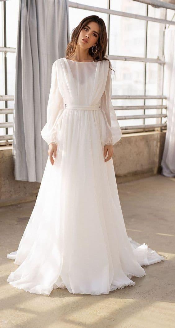 لباس عروس فرمالیته آستین دار,لباس عروس فرمالیته,شیک ترین لباس عروس فرمالیته