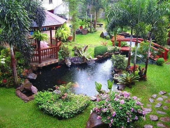 تزیین باغ,طراحی باغ,جدیدترین طراحی باغ