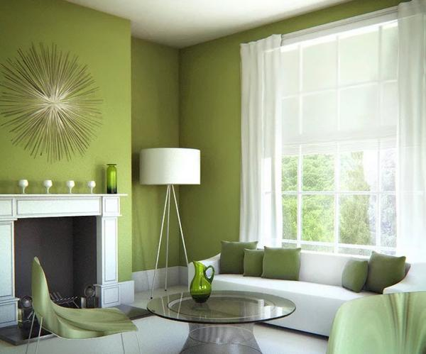 استفاده از رنگ سبز در دکوراسیون اتاق نشیمن,مکانهای مناسب برای رنگ سبز در دکوراسیون,رنگ سبز در دکوراسیون