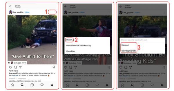 ریپورت کامنت در اینستاگرام,ریپورت اینستاگرام,ریپورت تصویر یا ویدئو در اینستاگرام
