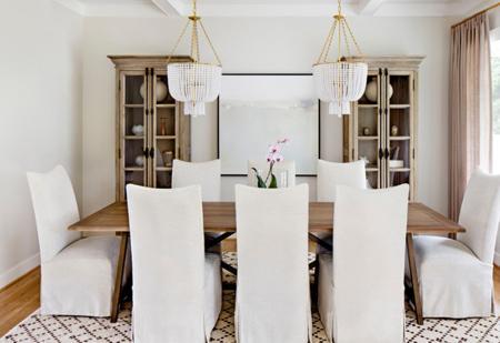 نورپردازی اتاق غذاخوری,شکل و اندازه میز غذاخوری,دکوراسیون