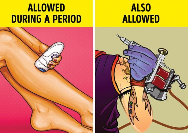 حمام در دوران قاعدگی,بررسی دوران قاعدگی زنان,باورهای غلطی در مورد سیکل قاعدگی