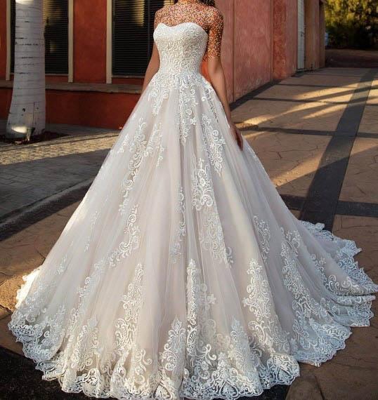 مدل لباس عروس پرنسسی,جدیدترین مدل لباس عروس,مدل لباس عروس