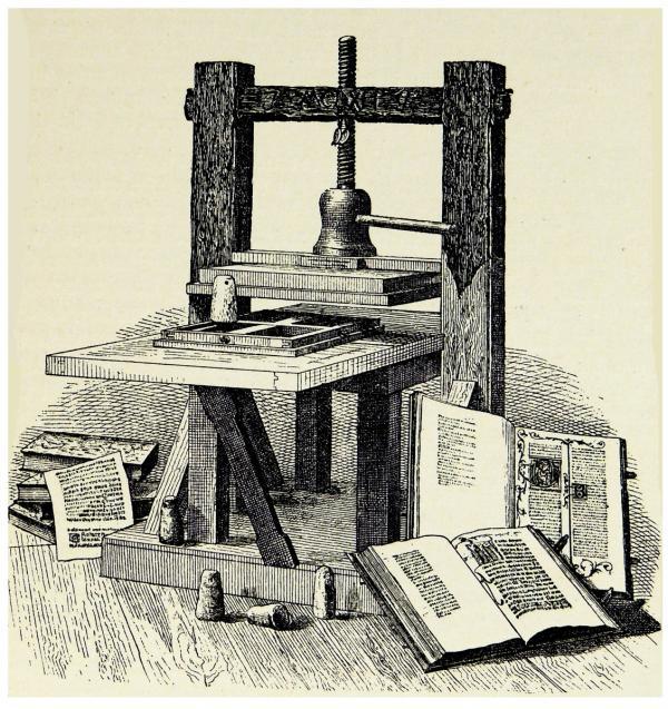 اختراع چاپ,اختراع دستگاه چاپ,اختراع ماشین چاپ