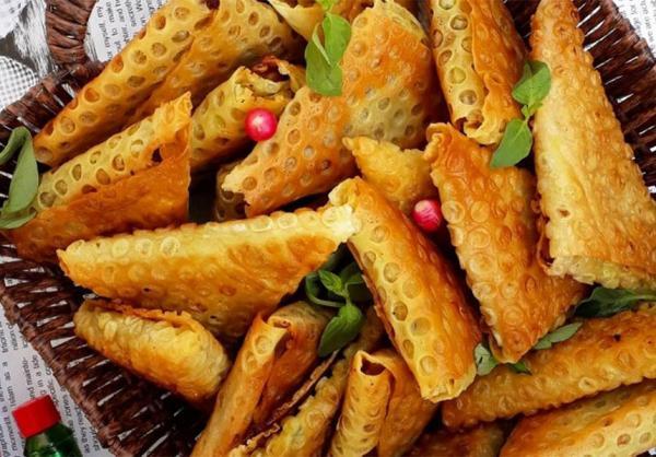 طرز تهیه سمبوسه,طرز تهیه سمبوسه با نان لواش,سمبوسه