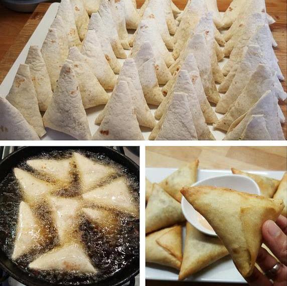 طرز تهیه سمبوسه با سیب زمینی,طرز تهیه سمبوسه,طرز تهیه سمبوسه با نان لواش