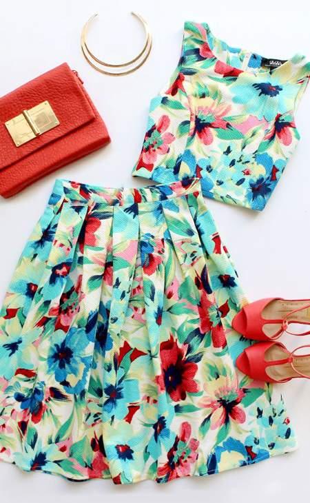 لباس های طرح دار,ست کردن لباس,پیراهن های گلدار