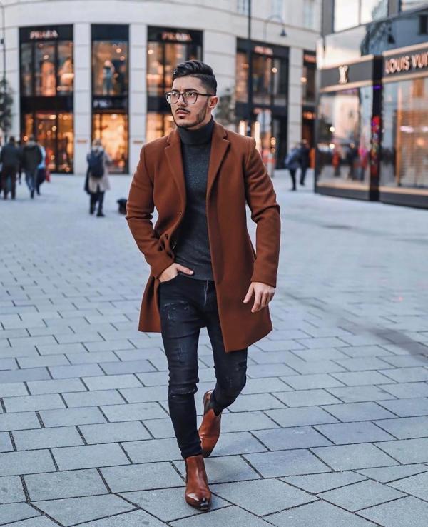 ست کردن لباس مردانه در زمستان,ست کردن لباس مردانه,عکس ست کردن لباس مردانه