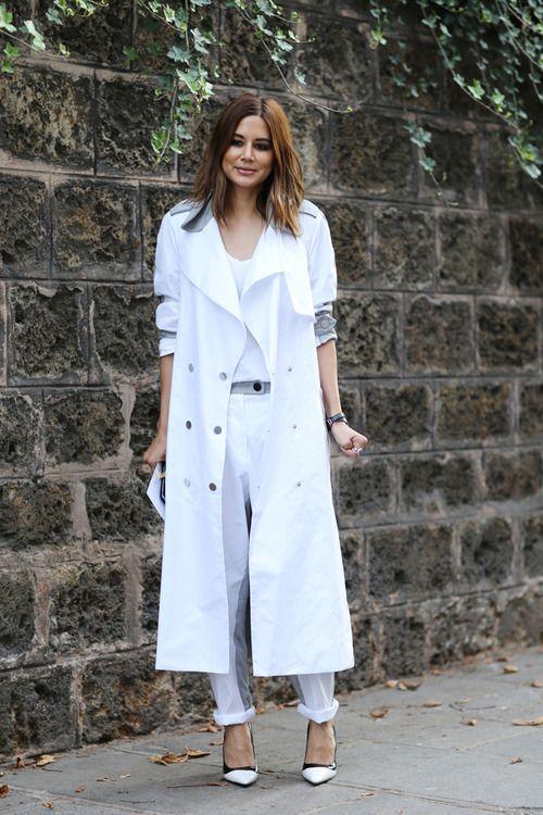 شلوار لی با مانتو سفید,مدل مانتو سفید شیک,مدل مانتو سفید