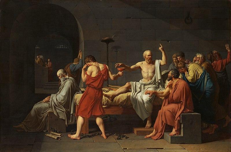 فیلسوف بزرگ,سقراط,تابلوی مرگ سقراط