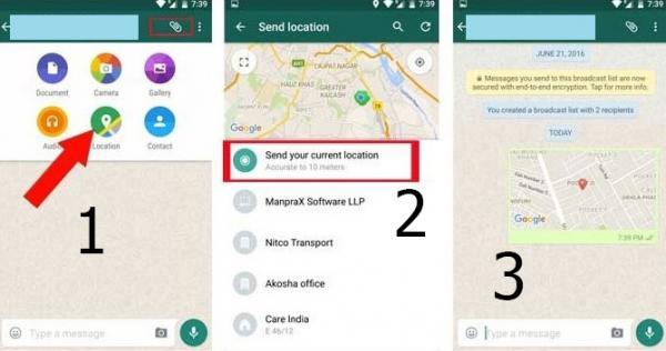 ارسال لوکیشن در پیام کوتاه متنی,نحوه ارسال لوکیشن در تلگرام,ارسال لوکیشن