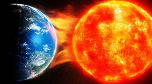 خورشید در منظومه شمسی,خورشید,فاصله خورشید با زمین