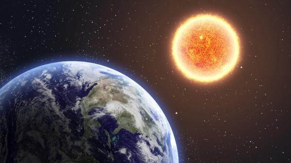 ابعاد خورشید,شعاع خورشید,خورشید