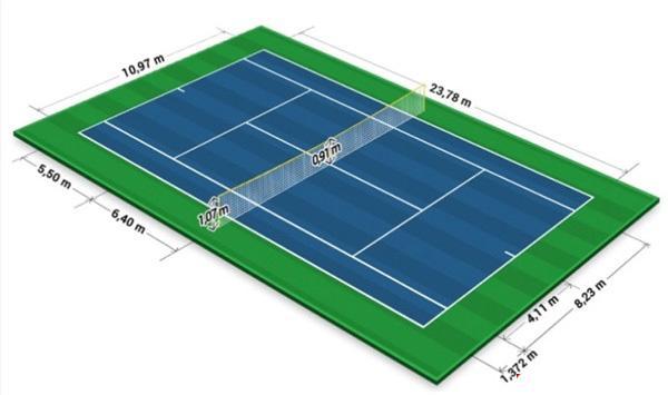 تنیس,زمین تنیس,راکت تنیس