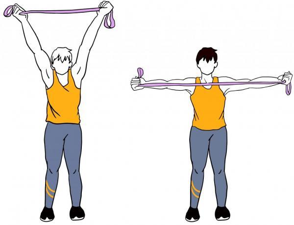 درمان افتادگی شانه با ورزش,درمان افتادگی شانه با ورزش کشش بازو,تمرینات درمان افتادگی شانه با ورزش