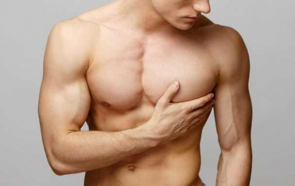 بزرگی سینه مردان,مشکل بزرگی سینه مردان,برترین درمان ژنیکوماستی با ورزش