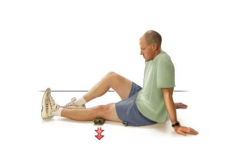 درمان زانودرد با ورزش کشش ساق پا,درمان زانودرد با ورزش,راههای درمان زانودرد با ورزش