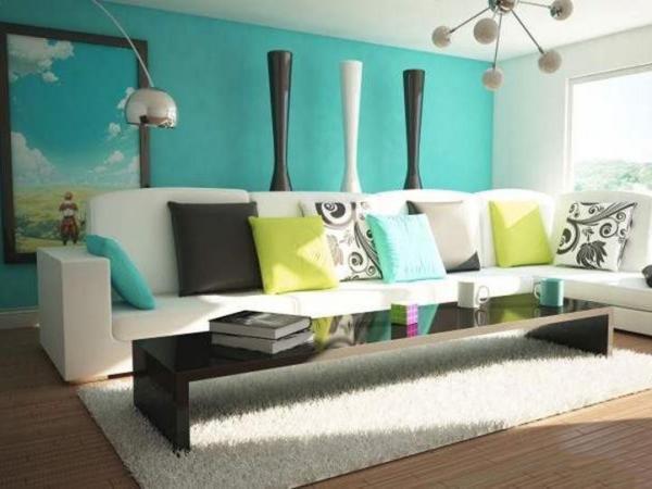 رنگ فیروزه ای در دکوراسیون,کاربرد رنگ فیروزه ای در دکوراسیون,رنگ های مکمل رنگ فیروزه ای در دکوراسیون