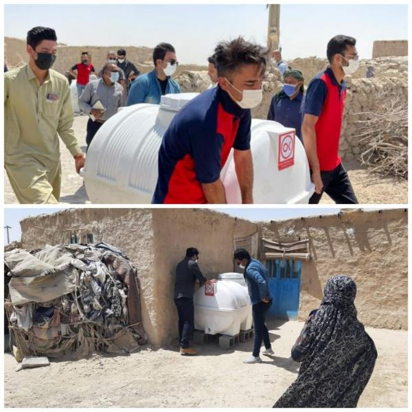 اهدا مخازن آب توسط کارکنان افق کوروش